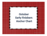 October Early Finishers Anchor Chart