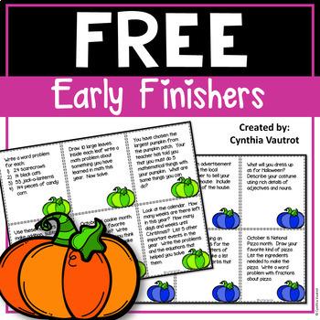 Early Finishers! October! {FREEBIE}