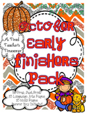 October Early Finishers Pack
