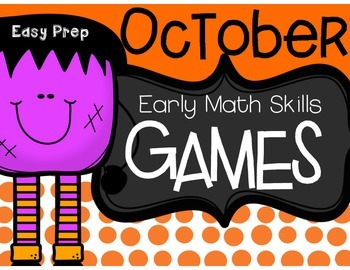 October Early Math Games (Easy Prep)