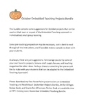 October Embedded Teaching Projects Bundle