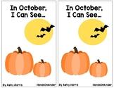 October Emergent Reader - Sight Word Based, Halloween Bats Spiders