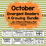 October Emergent Readers and Response Activities
