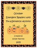 October Emergent Readers with Fix-a-Sentence Activities