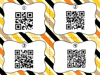 October Encyclopedia Research Task Cards with Self-Checking QR Codes
