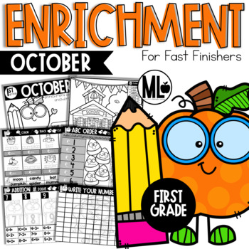 October Enrichment/Early Finishers*FIRST GRADE*