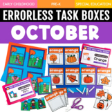 October Errorless Learning Task Boxes (16 Task Boxes Included)
