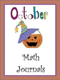 October Everyday Math Journals Printable