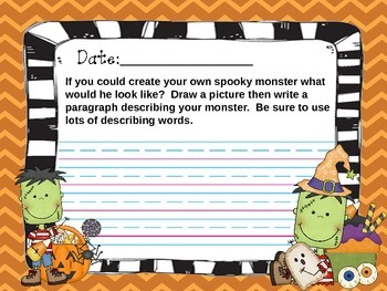 October Everyday Writing Journals Powerpoint