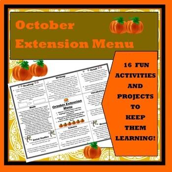 October Extension Choice Menu