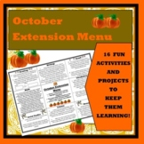 October Extension Choice Menu