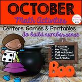 October Number Sense Activities