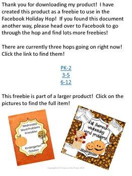 October FB Holiday Hop Freebie