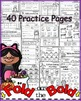 October FOLD ON THE BOLD (1st Grade) Self Checking Math an
