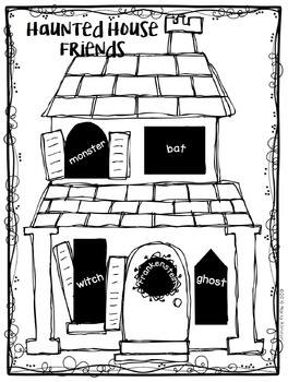 Haunted House Friends {My Monthly FREEBIE}
