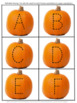 Fall Autumn October Cut Paste Math and Literacy Special Education Kindergarten