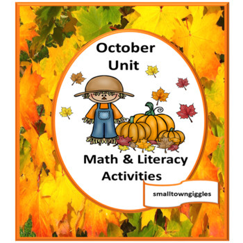 October Kindergarten Special Education Autism Cut and Paste Fine Motor Skills