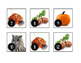 October Fall Calendar Cards-Real Photos