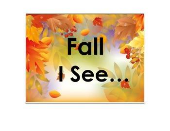 "October/Fall ""I See"" Book *Autism"