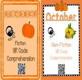 October- Fall & Pumpkins - QR Code Comprehension BUNDLE (F