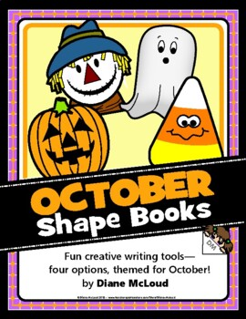 Creative Writing Fun with October-Themed (Fall) Shape Books