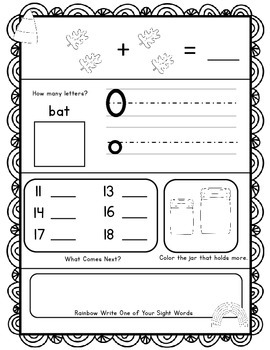 Kindergarten Morning Work!  October Fall Themed Common Core Daily Review