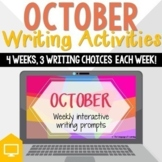 October - Fall Weekly Writing Prompts | DISTANCE LEARNING