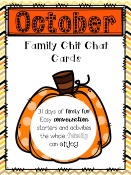 October Family Chit Chat Cards