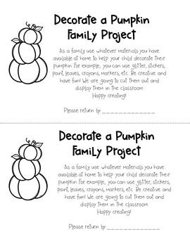 October Family Pumpkin Decorating Project