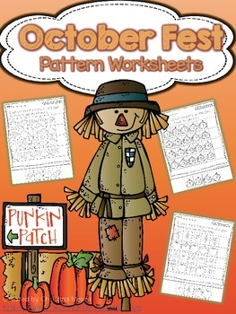 October Fest - Pattern Worksheets