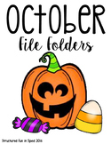 October File Folder Activities