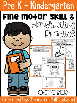 October Fine Motor Skill and Handwriting Practice