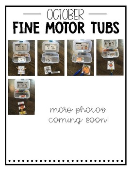 October Fine Motor Tubs