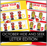 October Fire Safety Hide and Seek - Letter Edition