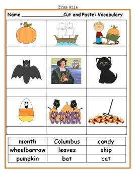 First Grade October Activities