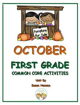 First Grade October Activities