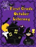 October First Grade Literacy:  Halloween Activities for Firsties