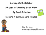 October First Grade Morning Math and Review