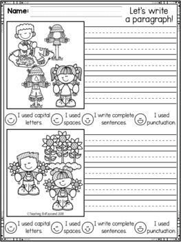 October First Grade Writing Activities