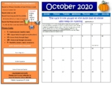 October Fitness Calendar 2018