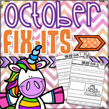 October Fix-It Sentences With Powerpoint