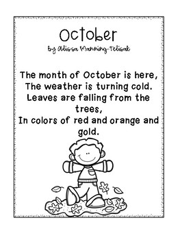 October Fluency Building Poems {Poetry Notebooks}