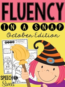 October: Fluency In a Snap {Stuttering}