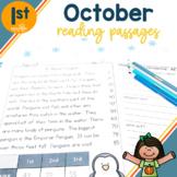 1st Grade Fluency Passages for October