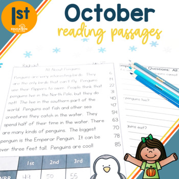 1st Grade Fluency Passages for October