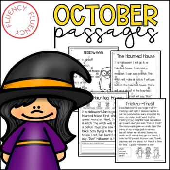 October Fluency Passages (Differentiated)