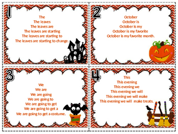 October Fluency Pyramids