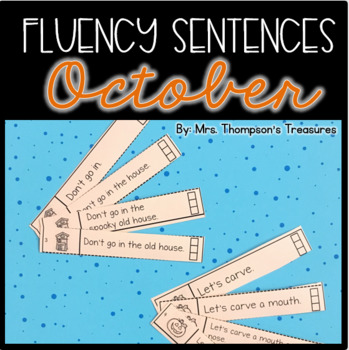 October Fluency Strips