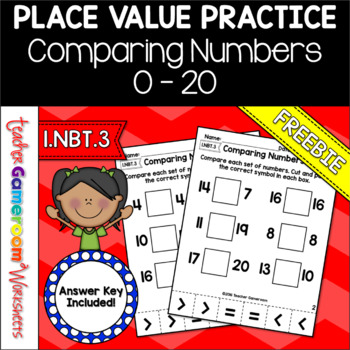 Comparing Numbers from 0 to 20 Cut and Paste Activity
