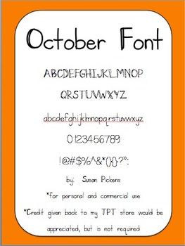 October Font